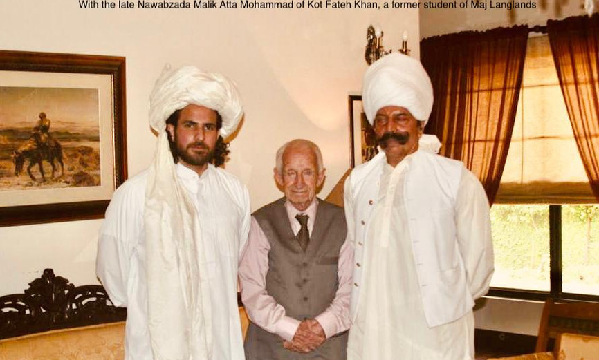 With the late Nawabzada Malik Atta Mohammad of Kot Fateh Khan. A former student of the Major's.