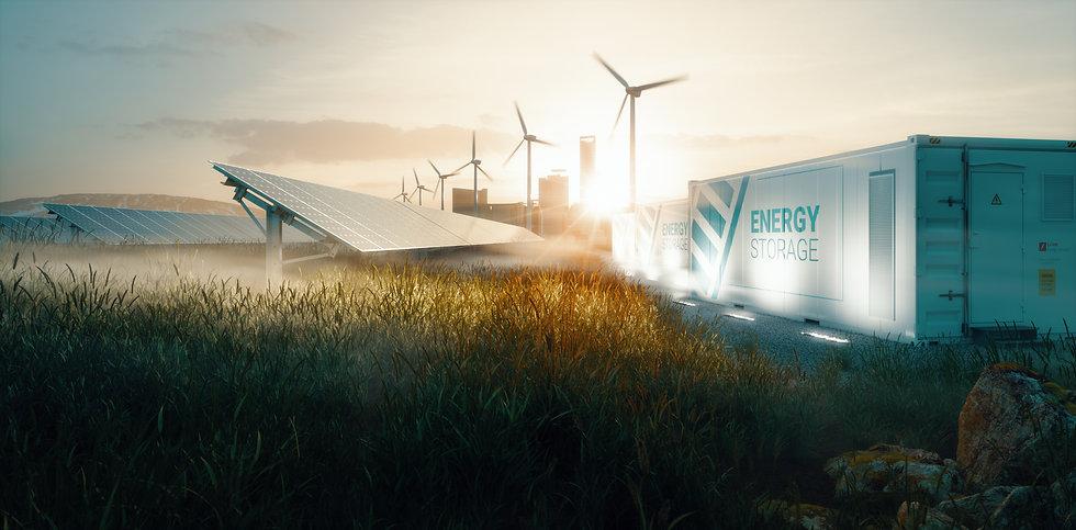 renewable energy infrastructure solar wind turbines battery storage