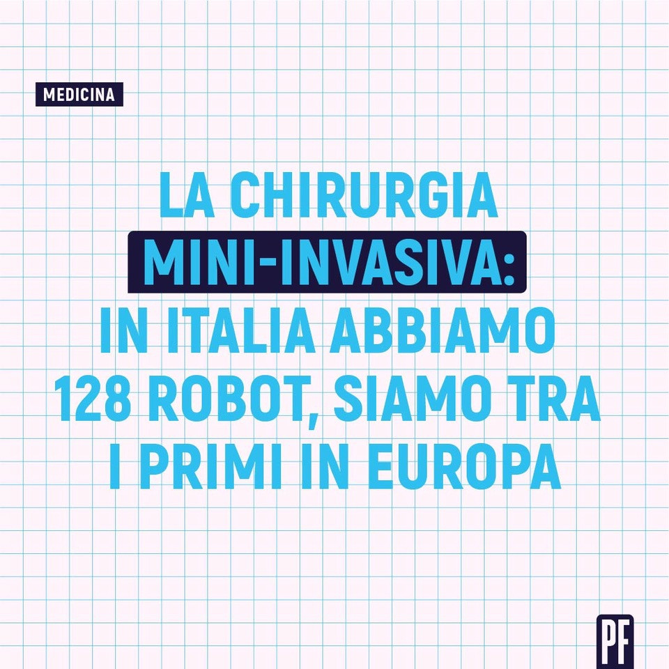 il numero di robot in Italia per la chirurgia mini invasiva