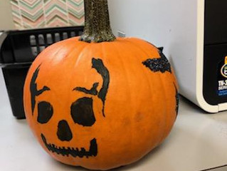 Decorating Pumpkins at Group Therapy