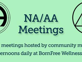 Coming Soon: NA/AA Meetings