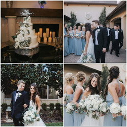 white and dusty blue wedding