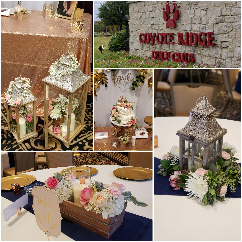 lantern wedding flowers