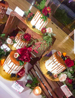 burgundy and gold cake flowers.jpg