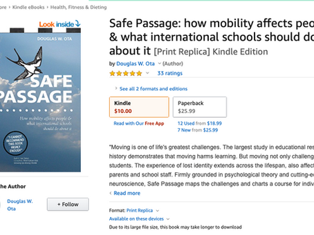 Part III:  The swallow goes digital.  Announcing the Kindle Version of Safe Passage.
