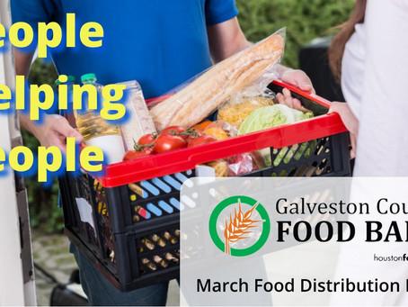 Galveston County Food Bank March 2021 Food Dist. Event Calendar