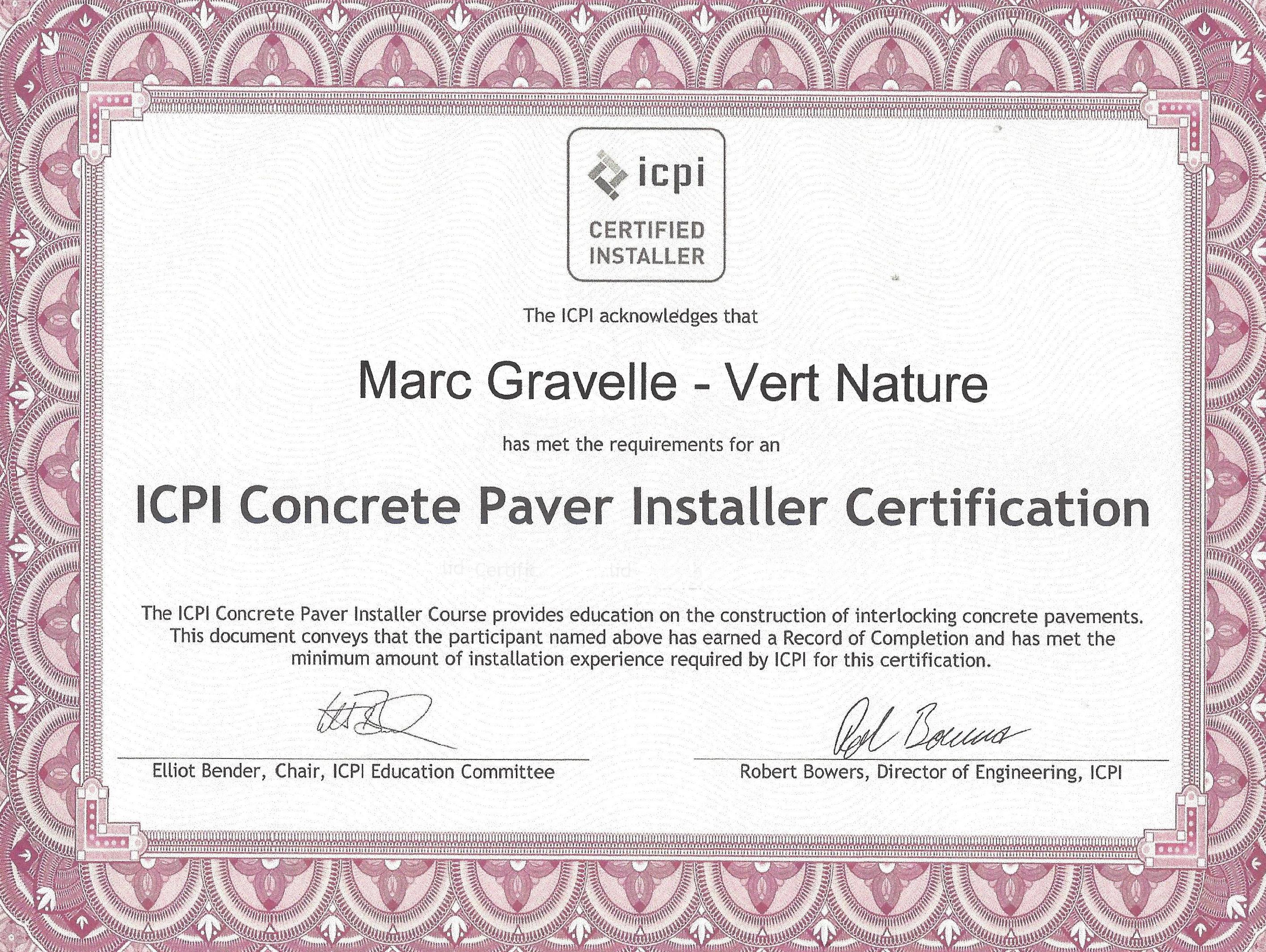 ICPI - Interlock Concrete Paver Installe