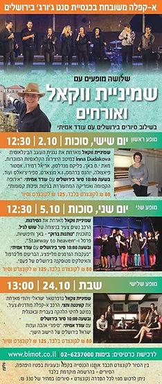שמיניית ווקאל בכנסיית סנט ג'ורג' בירושלים, הופעות משולבות עם סיורים בעיר העתיקה