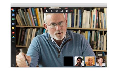 vídeo conferência hangout computador