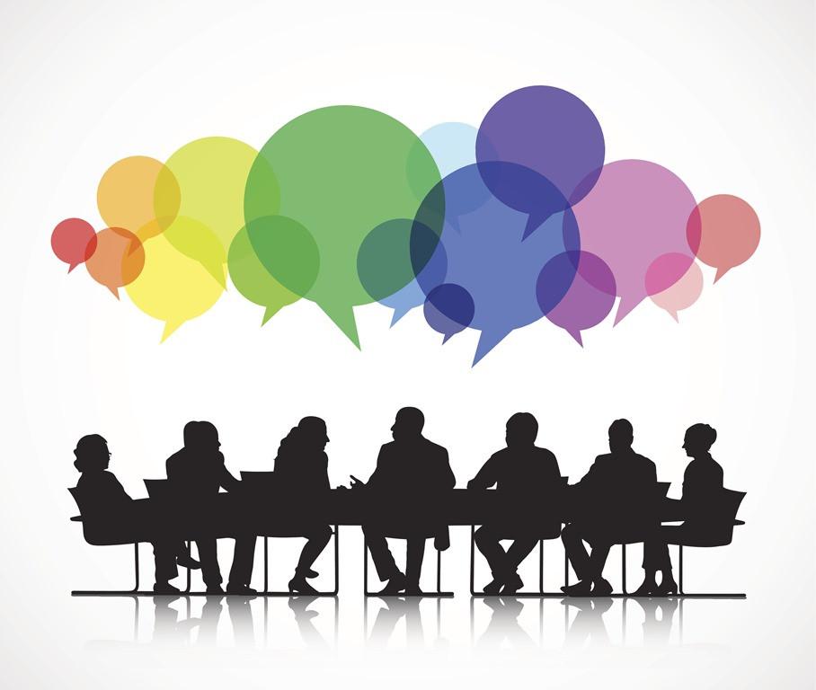 empresários conversando
