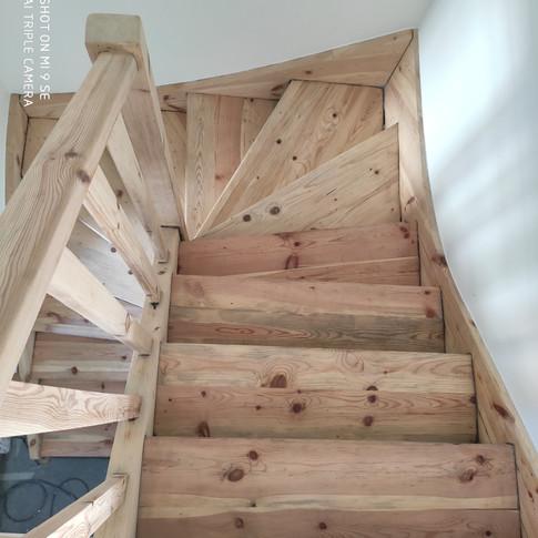 Décapage escalier intérieur