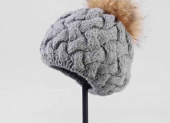 Detachable Faux Fur Bobble Hat (2 colours)
