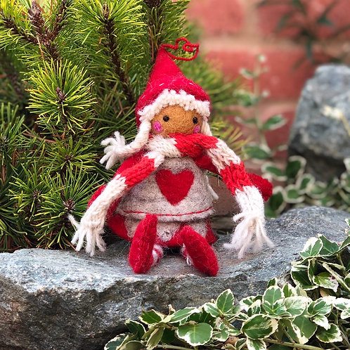 Winter Christmas Fairy Felt Doll