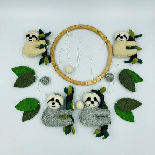 Felt Sloth Mobile