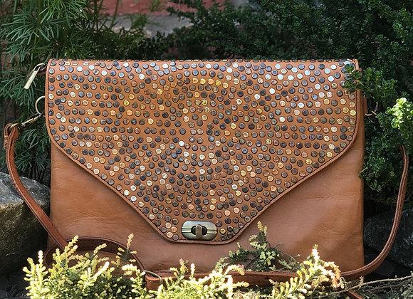 Leather Embelished Clutch Bag