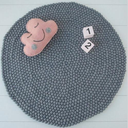 Felt Ball Rug (Pebble Grey)