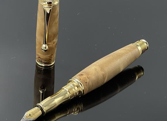 Handmade Poplar Burl Wood Fountain Pen