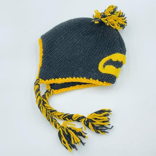 Childs batman inspired bobble hat
