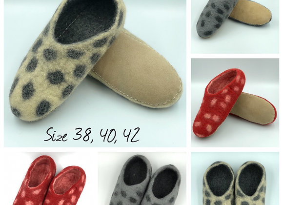 Felt Slippers (3 colours available)