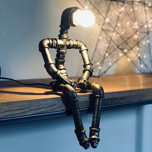 Industrial Style Pipe Robot Lamp