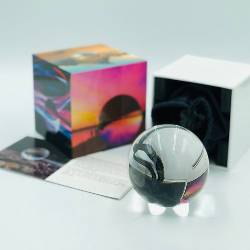 K9 Crystal 80mm Lensball With Gift Box, Microfibre Cloth and Quick Tips Guide