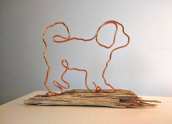 Handmade wire dog art