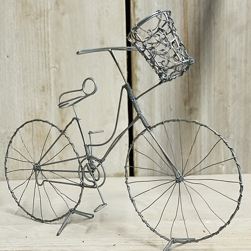 Wire bicycle with basket
