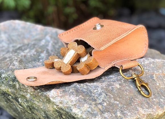 Leather Dog Treat Bag Keyring