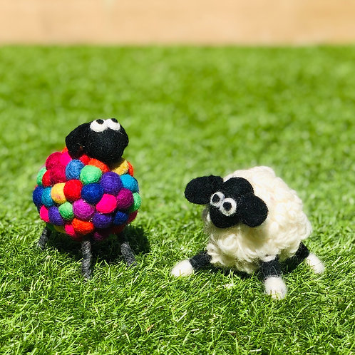 Decorative Felt Ball Sheep