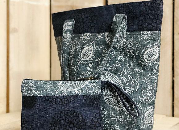 Dhaka Fabric Shopper & Purse Set