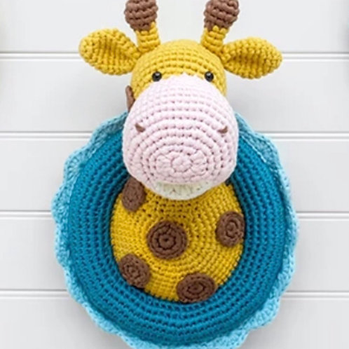 Crocheted Wall mounted animals