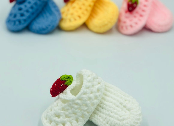 Crochet Baby Slippers (4 colours)