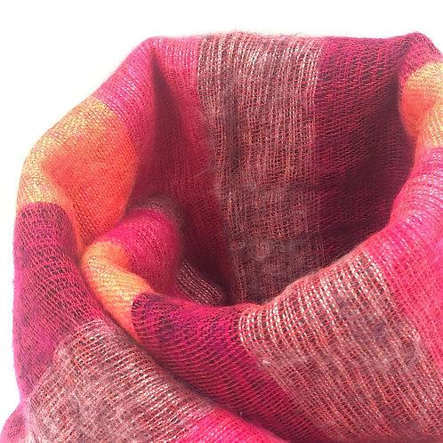 Luxury Handmade Shawl (red mix)