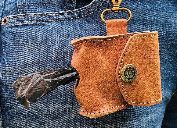 Leather Poo Bag Keyring