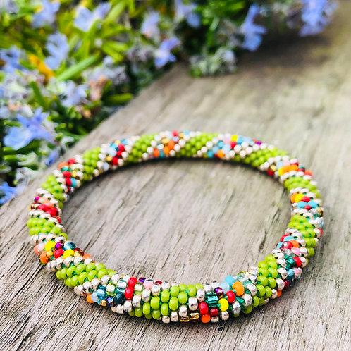 Glass 'Pote' Bead Bracelets