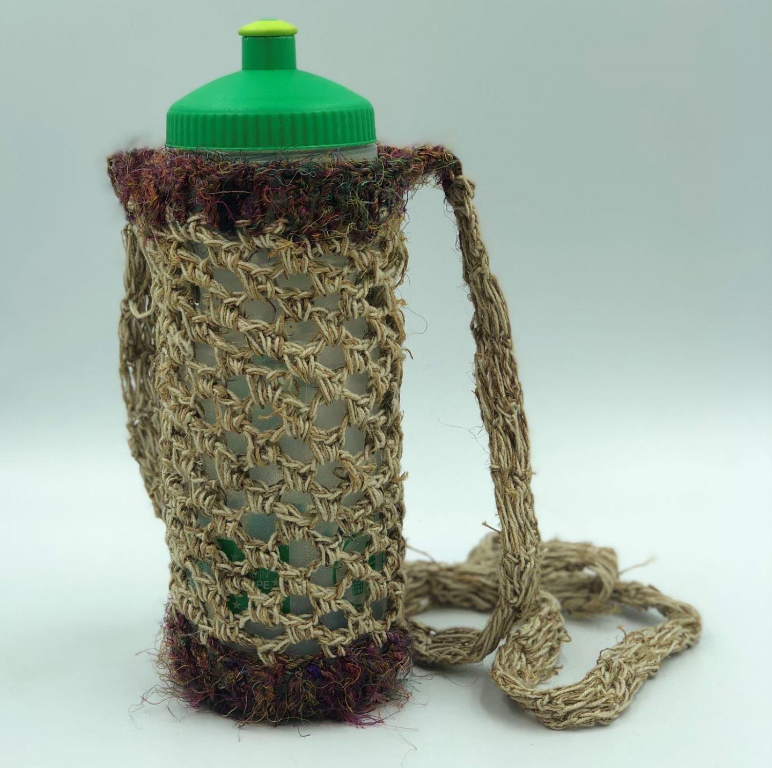 hemp bottle bag
