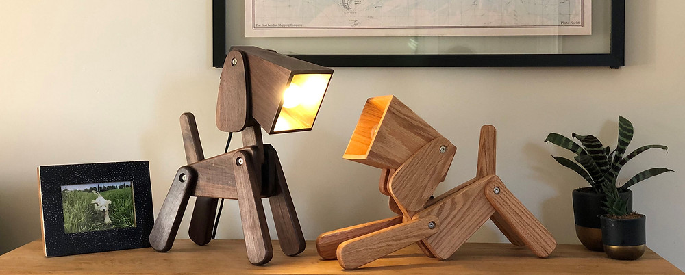 dog lovers, gift for dog lovers, table lamp, office lamp, study lamp, gift for mum, gift for dad made.com, wayfair,