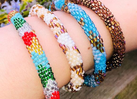 Girls Glass 'Pote' Bead Bracelet