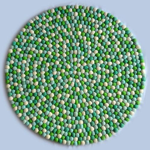 Felt Ball Play Mat (Green/white)