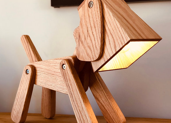 handmade table lamp study desk lamp gift for dog lovers, gifts for mum gifts for dad