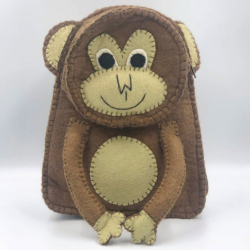 Felt Monkey Backpack