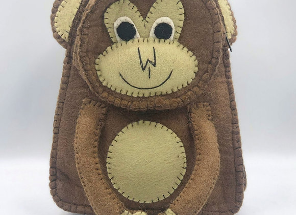 Felt Monkey Backpack