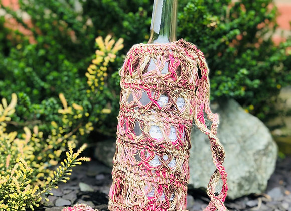 Crochet Hemp Bottle Bags
