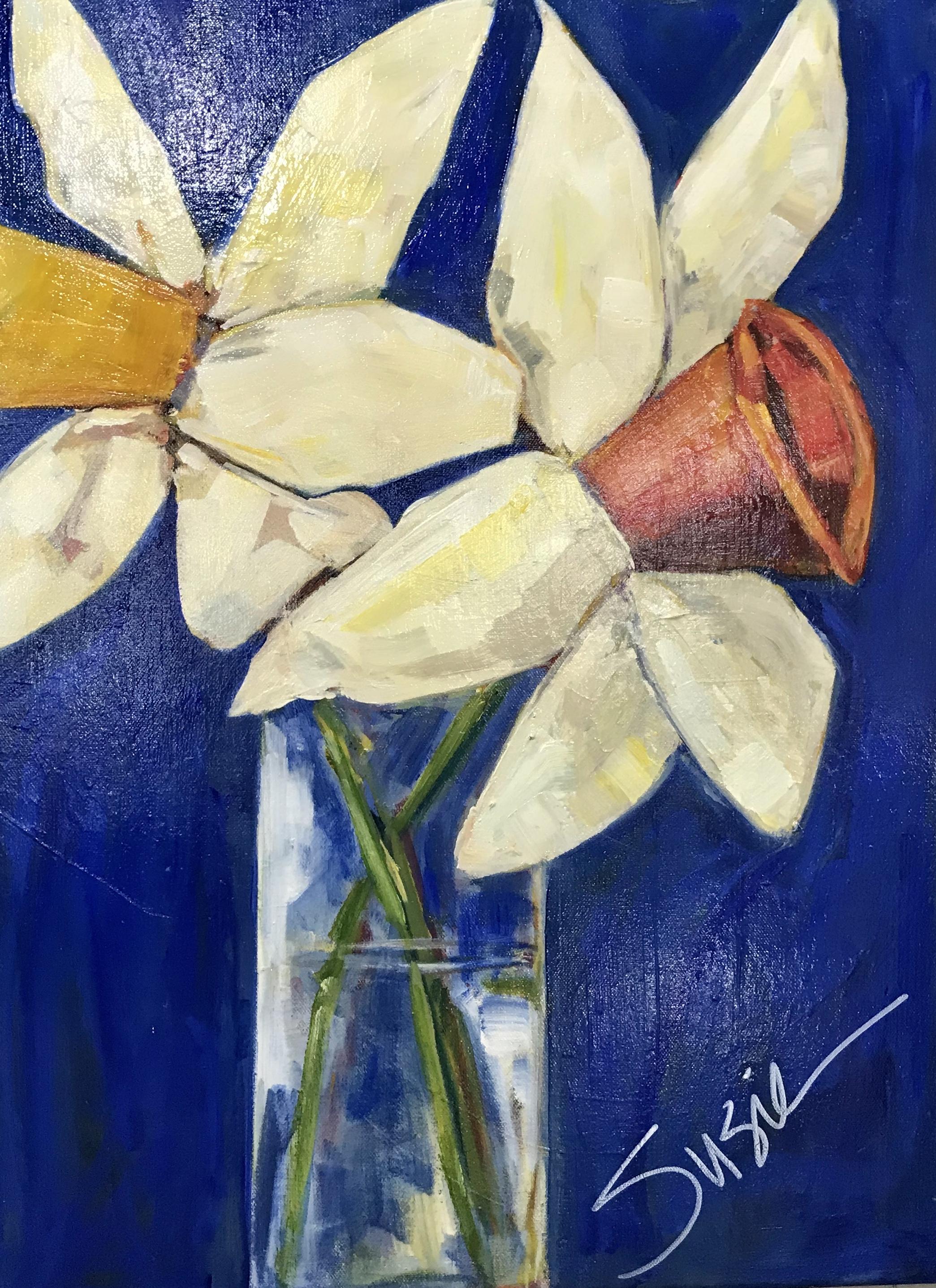 """""""Daffodils on Blue"""""""