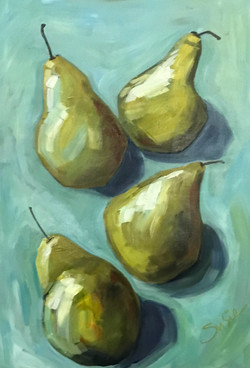 """""""Pears on Turquoise"""""""