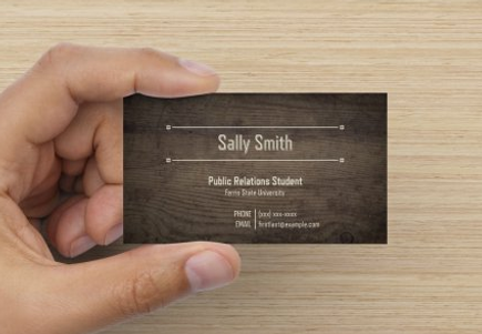 Business cards tips and tricks ferris state prssa my favorite student business cards include name college attending and possibly graduation year degrees pursuing and points of contact such as your email colourmoves