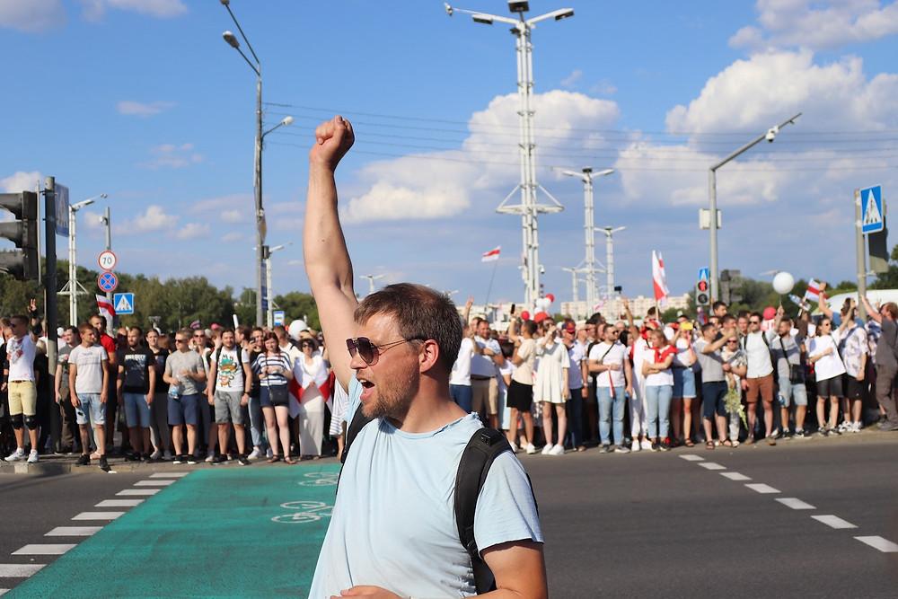 Manifestação em Minsk