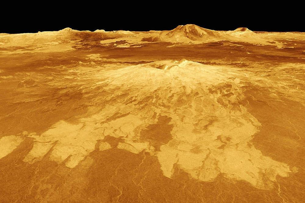 Vulcão Sapa Mons, em Vênus