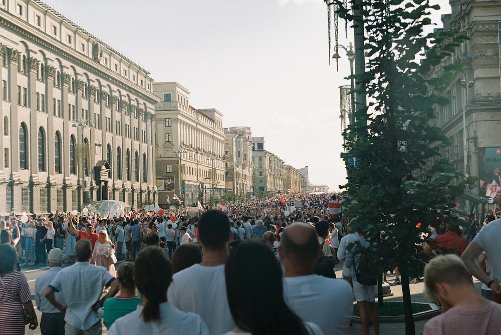 Marcha pela liberdade em Minsk