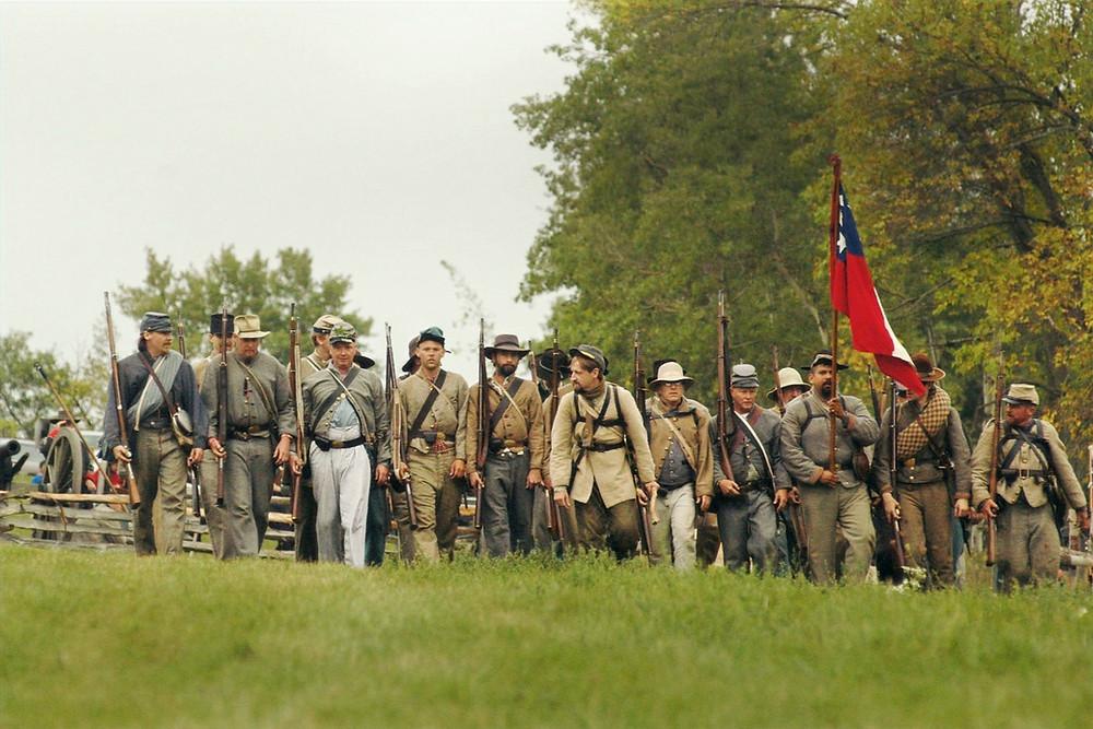 Encenação da guerra civil americana no Wisconsin